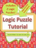 Logic Puzzle Tutorial, Grid Logic Puzzle, Step by Step, De