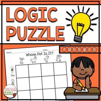 Logic Puzzle for Primary Students FREEBIE