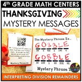 QR Codes Division Interpreting Remainders Thanksgiving Game