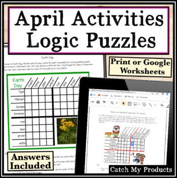 Logic Puzzles - April Logic Bundle for Gifted Kids