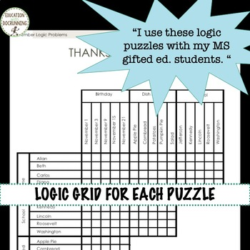 Logic Puzzles -  BIG bundle of logic puzzles to use all year long (SAVE)