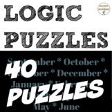 Logic Puzzles BIG bundle of logic puzzles for middle school math (SAVE)