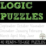 Logic Puzzles BIG bundle of logic puzzles for middle school math (SAVE)