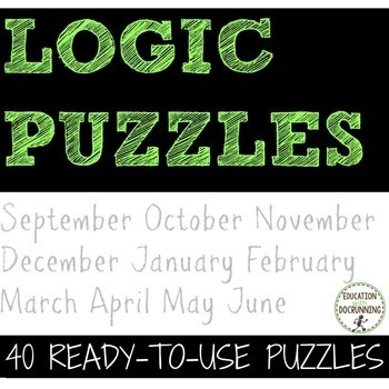 Logic Puzzles -  BIG bundle of logic puzzles to use all ye
