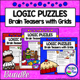Logic Puzzles - Brain Teaser Puzzles with Grids {BUNDLE}