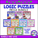 Logic Puzzles Brain Teaser Puzzles with Grids MEGA Bundle