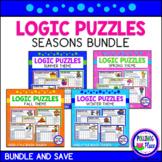 Logic Puzzles - Brain Teaser Puzzles with Grids   Seasons Bundle