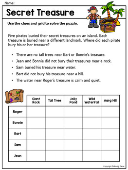 Logic Puzzles - Brain Teaser Puzzles with Grids - Set 3