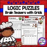 Logic Puzzles - Brain Teaser Puzzles with Grids - Set 3