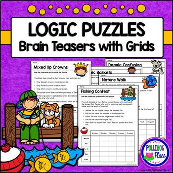 Logic Puzzles - Brain Teaser Puzzles with Grids - Set 2