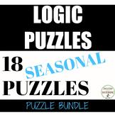 Logic Puzzles Bundle of seasonal logic puzzles for middle