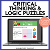 Logic Puzzles & Critical Thinking Activities for Kindergarten, 1st, & 2nd Grade