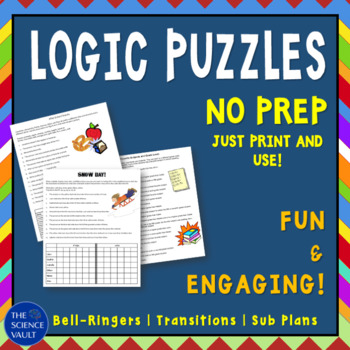 Logic Puzzles, Critical Thinking Skills Bundle