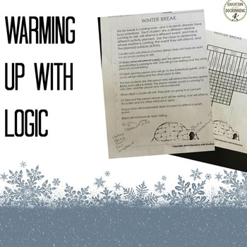 Logic Puzzles - December themed Logic Puzzles (Great for Winter)