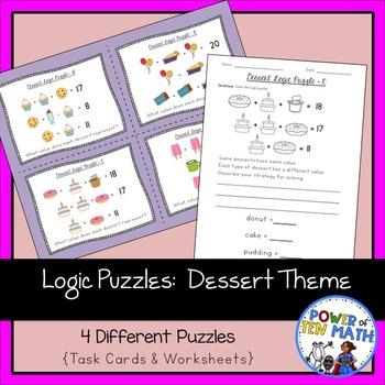 Logic Puzzles {Dessert Themed}