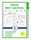 Logic Puzzles Dinosaurs Early Elementary