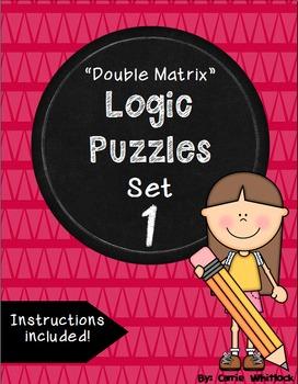 Logic Puzzles - Double Matrix - Set 1