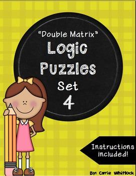 Logic Puzzles - Double Matrix - Set 4