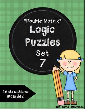 Logic Puzzles - Double Matrix - Set 7