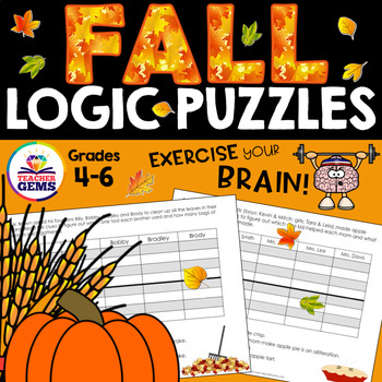 Fall Theme Logic Puzzles