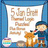 Jan Brett Themed Logic Puzzles for Beginners Plus Bonus Activity to Record Work!