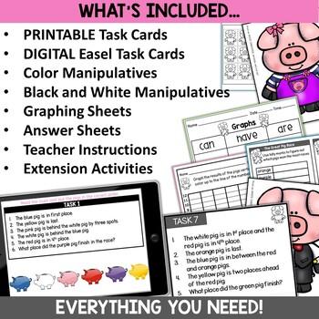 Math Logic Puzzles Activities Pig Theme