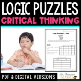 Logic Puzzles Critical Thinking Activities