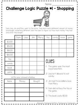 logic puzzles critical thinking activities by mrs thompson. Black Bedroom Furniture Sets. Home Design Ideas