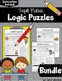 Logic Puzzles Bundle - Triple Matrix - Challenging