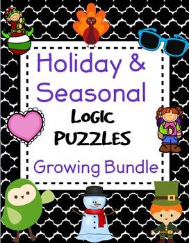 Logic Puzzles - Holiday & Seasonal Bundle