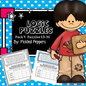 Logic Puzzles Math Pack 4