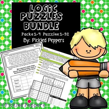 Logic Puzzles Math Pack Bundle--1-4