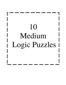 Logic Puzzles- Medium Difficulty