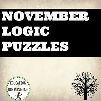 Logic Puzzles - November themed Logic Puzzles (Great for Autumn or Thanksgiving)