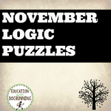 Thanksgiving and November Logic Puzzles for Thanksgiving a