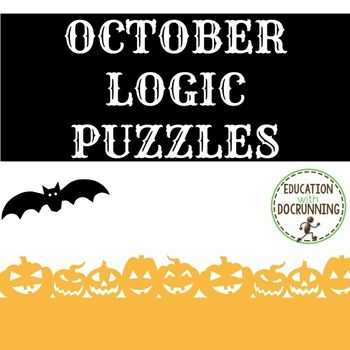 October Logic Puzzles (Great for Autumn or Halloween)