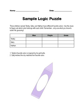 Logic Puzzles Packet