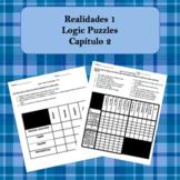 Spanish Logic Puzzles Realidades 1 2A and 2B