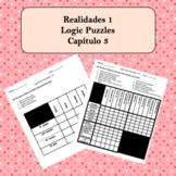 Spanish Logic Puzzles Realidades 1 3A and 3B