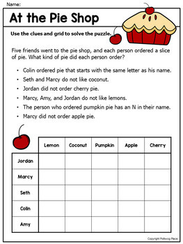 Logic Puzzles - Brain Teaser Puzzles with Grids - Set 1