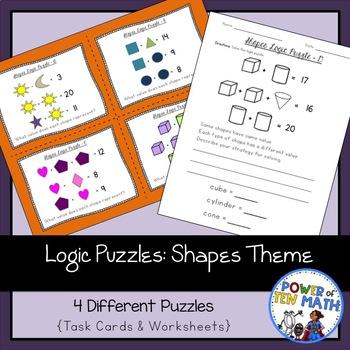 Logic Puzzles {Shape Themed}
