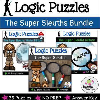 Logic Puzzles: Super Sleuths Bundle