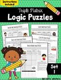 Logic Puzzles  - Triple Matrix Set 1 - Challenging