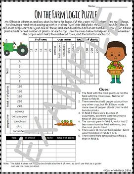 Logic Puzzles  - Triple Matrix Set 4 - Challenging