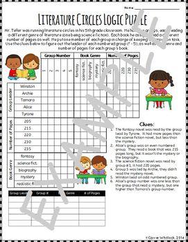 Logic Puzzles  - Triple Matrix Set 6 - Challenging