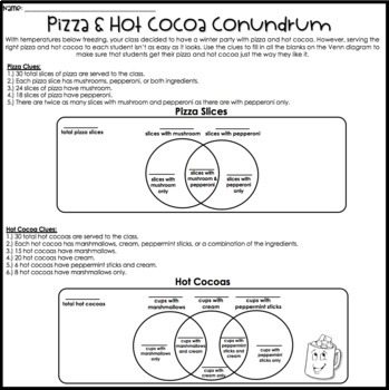 Logic Puzzles - Winter Math - Critical Thinking