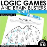 Logic Puzzles - Winter Math - Brain Teasers - Google Slides