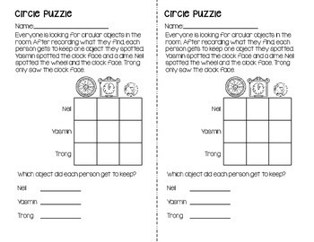 Logic Puzzles for Grades 2-3