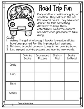 Logic Puzzles for Our Primary Pals
