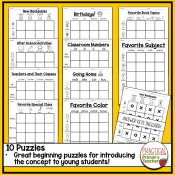 Logic Puzzles for Back to School - Primary Students